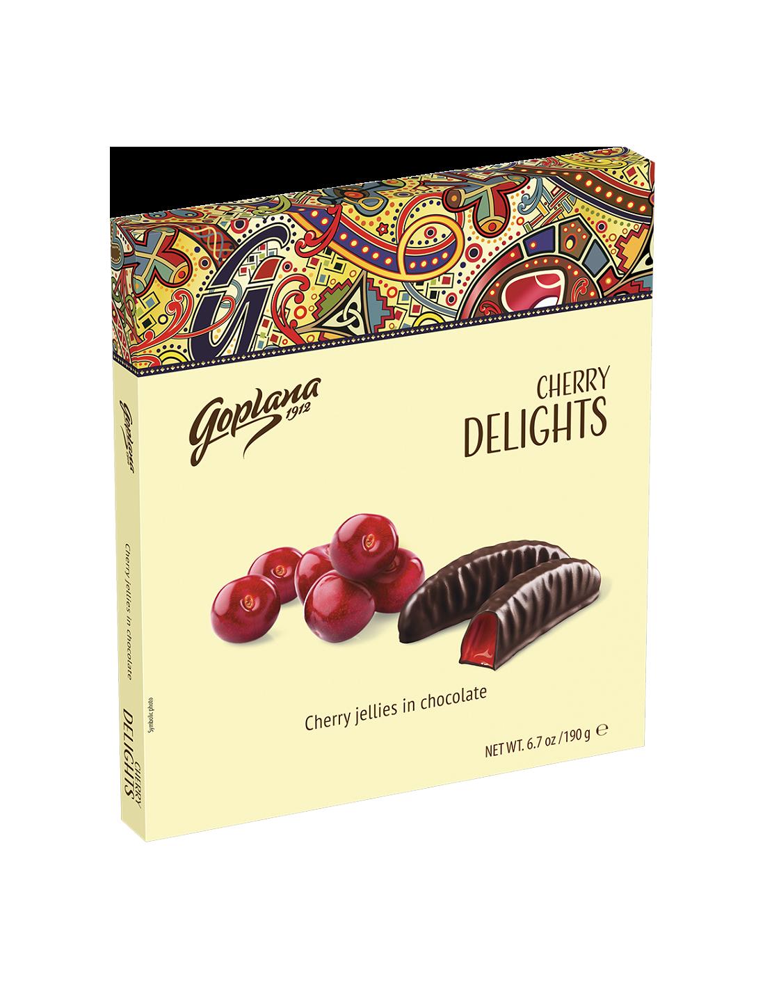 Bomboane Delights Cherry cu jeleu de cirese, 190g