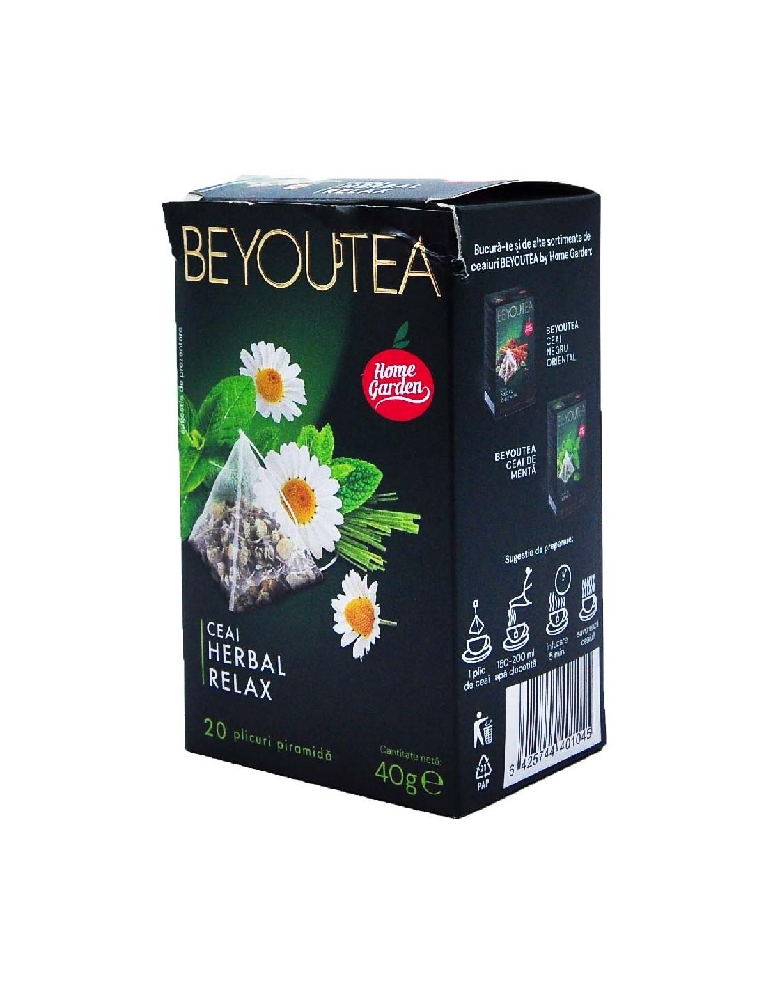 Ceai Beyoutea Piramida Herbal Relax, 40g