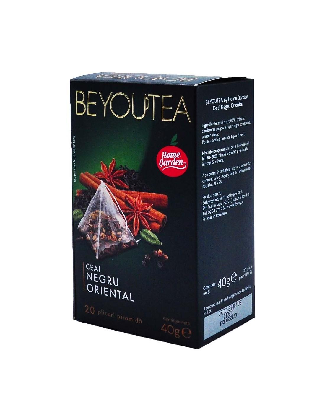 Ceai Beyoutea Piramida Negru Oriental, 40g
