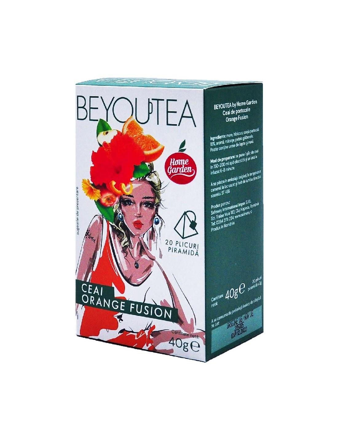 Ceai Beyoutea Piramida Orange Fusion, 40g