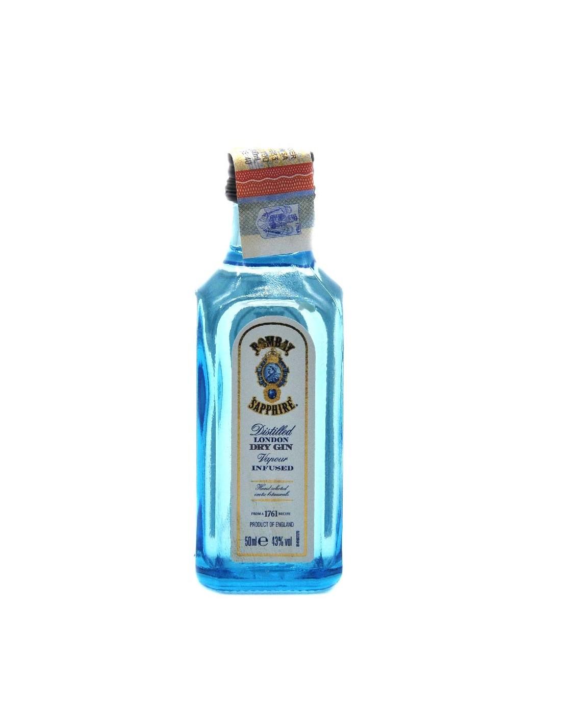 Gin Bombay Sapphire sticla, 43% alc., 0.05L, Anglia