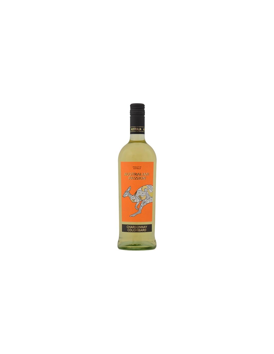 Vin alb sec, Chardonnay Colombard, Australian Passion, 12.5% alc., 0.75L, Australia