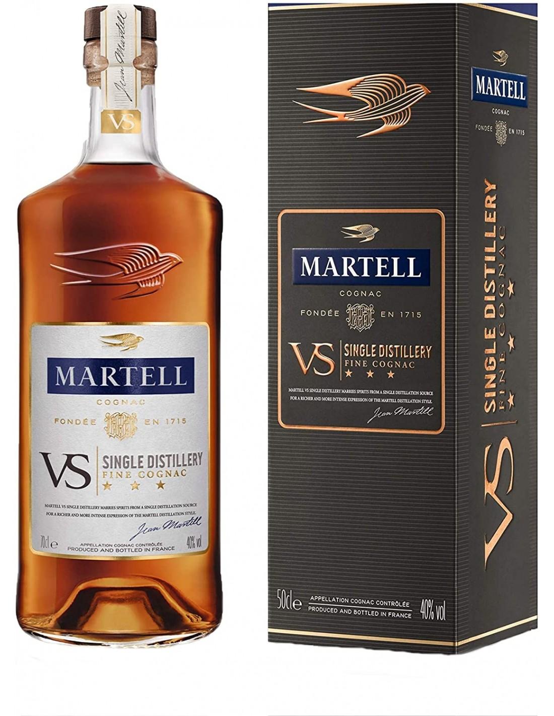 Coniac Martell VS + cutie, 40% alc., 0.7L, Franta