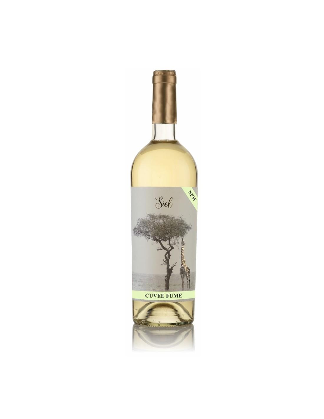 Vin alb demisec, Cupaj, Siel Cuvee Fume, Dealu Mare, 0.75L, 12% alc., Romania