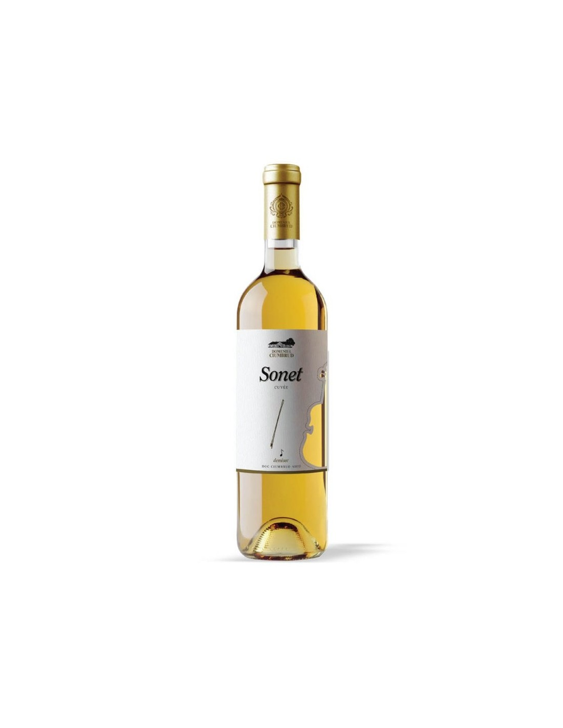 Vin alb demisec, Fet. Alba & Pinot G & Sauv Blanc, Sonet, Ciumbrud, 11.5% alc., 0.75L, Romania
