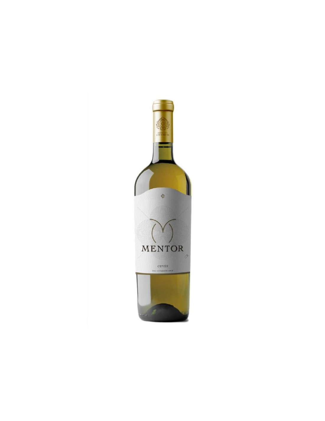 Vin alb sec, Traminer & Muscat, Mentor, Ciumbrud, 12% alc., 0.75L, Romania