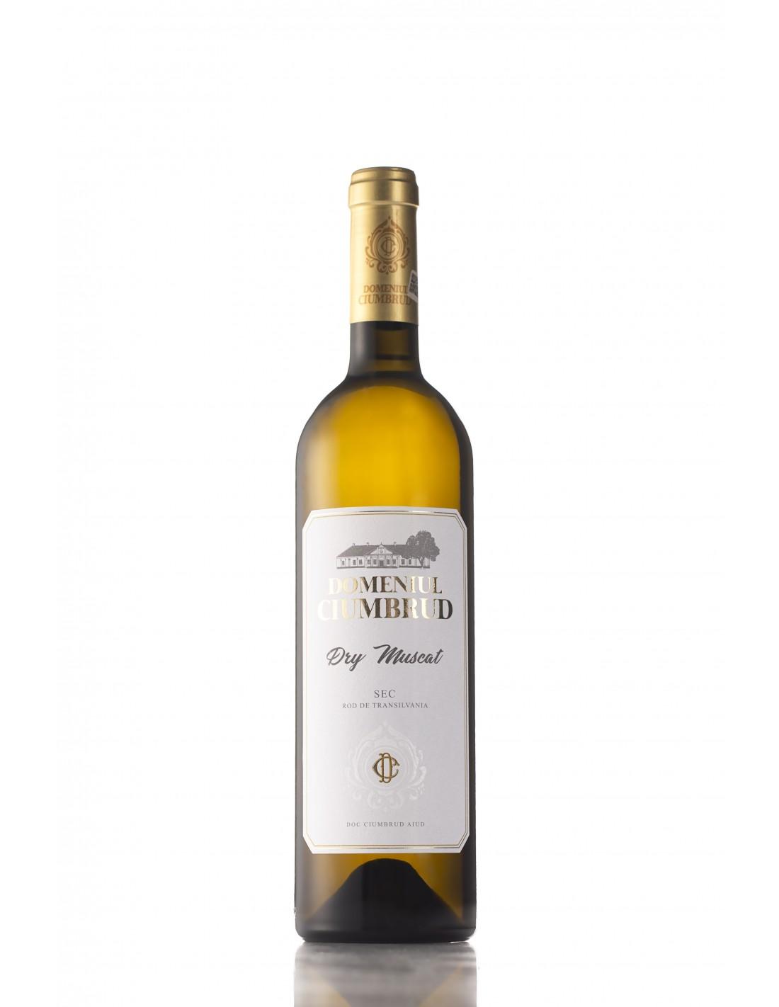 Vin alb demisec, Muscat, Domeniul Ciumbrud, 11.8% alc., 0.75L, Romania