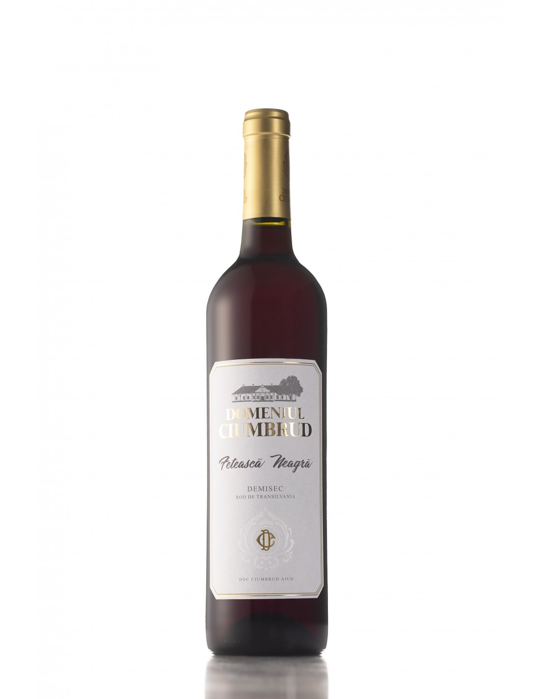 Vin rosu demisec, Feteasca Neagra, Domeniul Ciumbrud, 13.5% alc., 0.75L, Romania