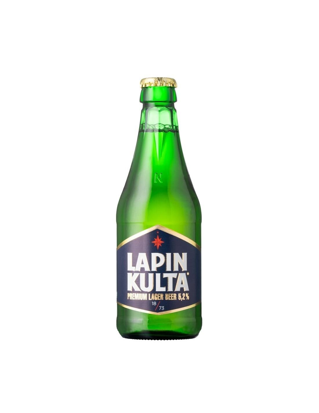 Bere blonda lager, Lapin Kulta Premium, 5.2% alc., 0.33L, Finlanda
