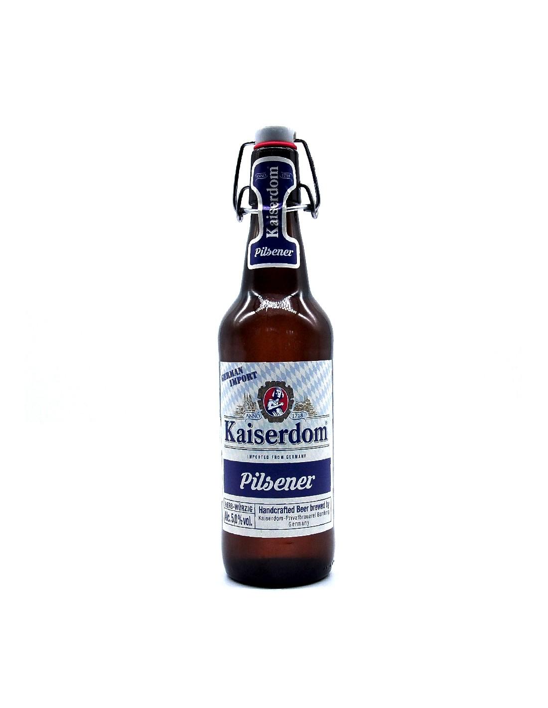 Bere blonda pilsner, Kaiserdom, 5% alc., 0.5L, Germania, sticla