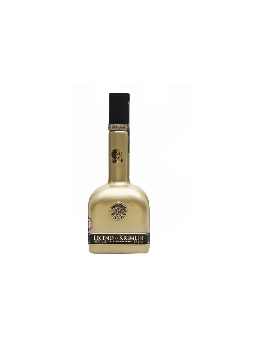 Vodca Legend of Kremlin Black/ Gold/ Transparent Bottle, 40% alc., 0.7L