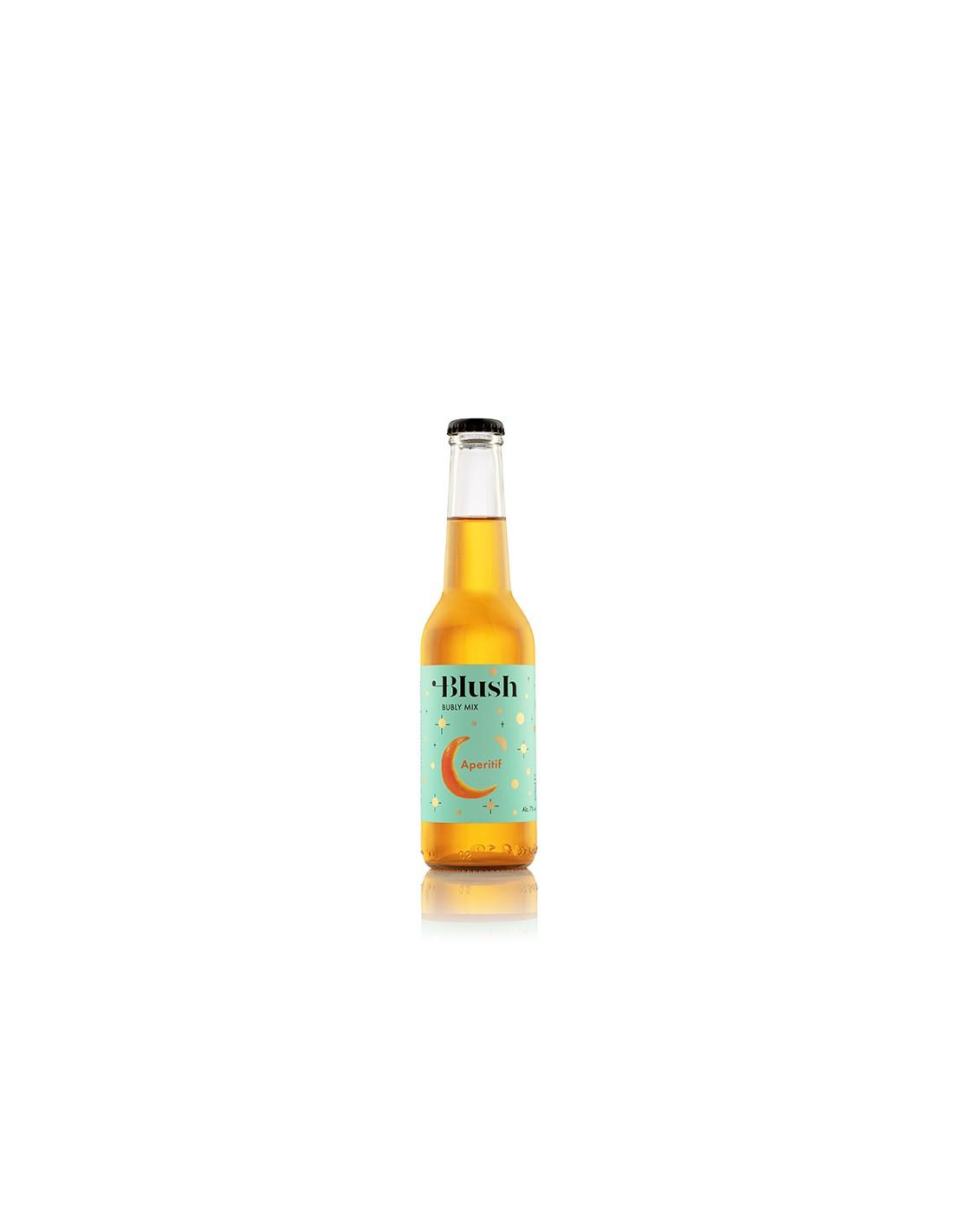 Cocktail portocaliu demidulce, Blush Aperitif, Ciumbrud, 7% alc., 0.275L, Romania