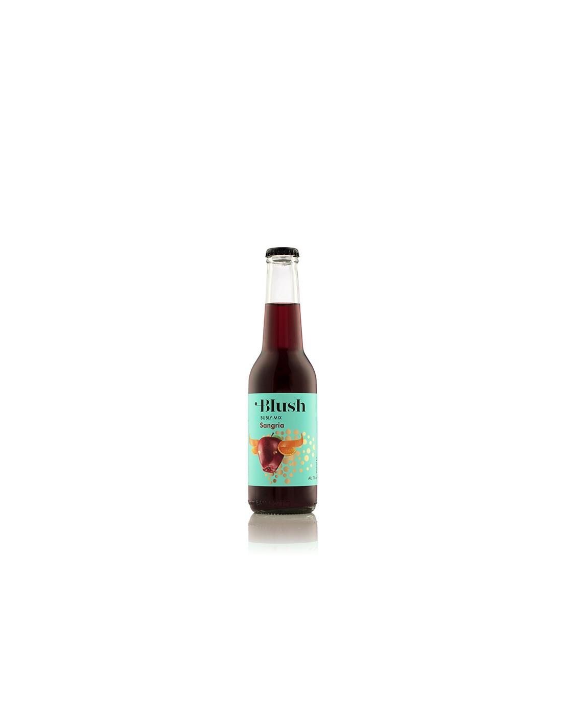 Cocktail rosu demidulce, Blush Sangria, Ciumbrud, 7% alc., 0.275L, Romania