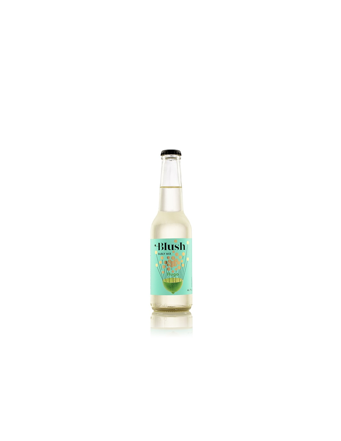 Cocktail alb demidulce, Blush Hugo, Ciumbrud, 7% alc., 0.275L, Romania