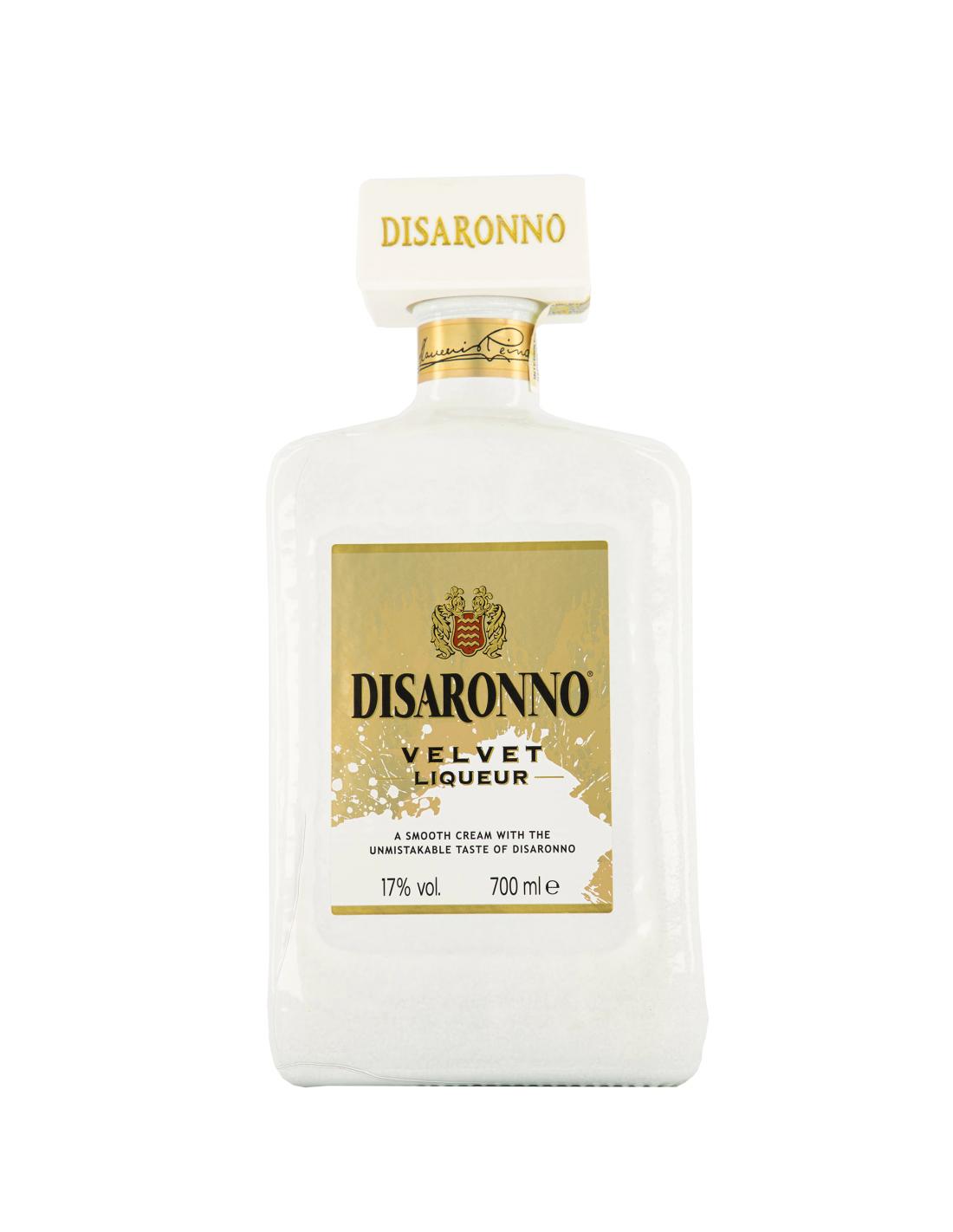 Lichior crema Disaronno Velvet, 17% alc., 0.7L, Italia