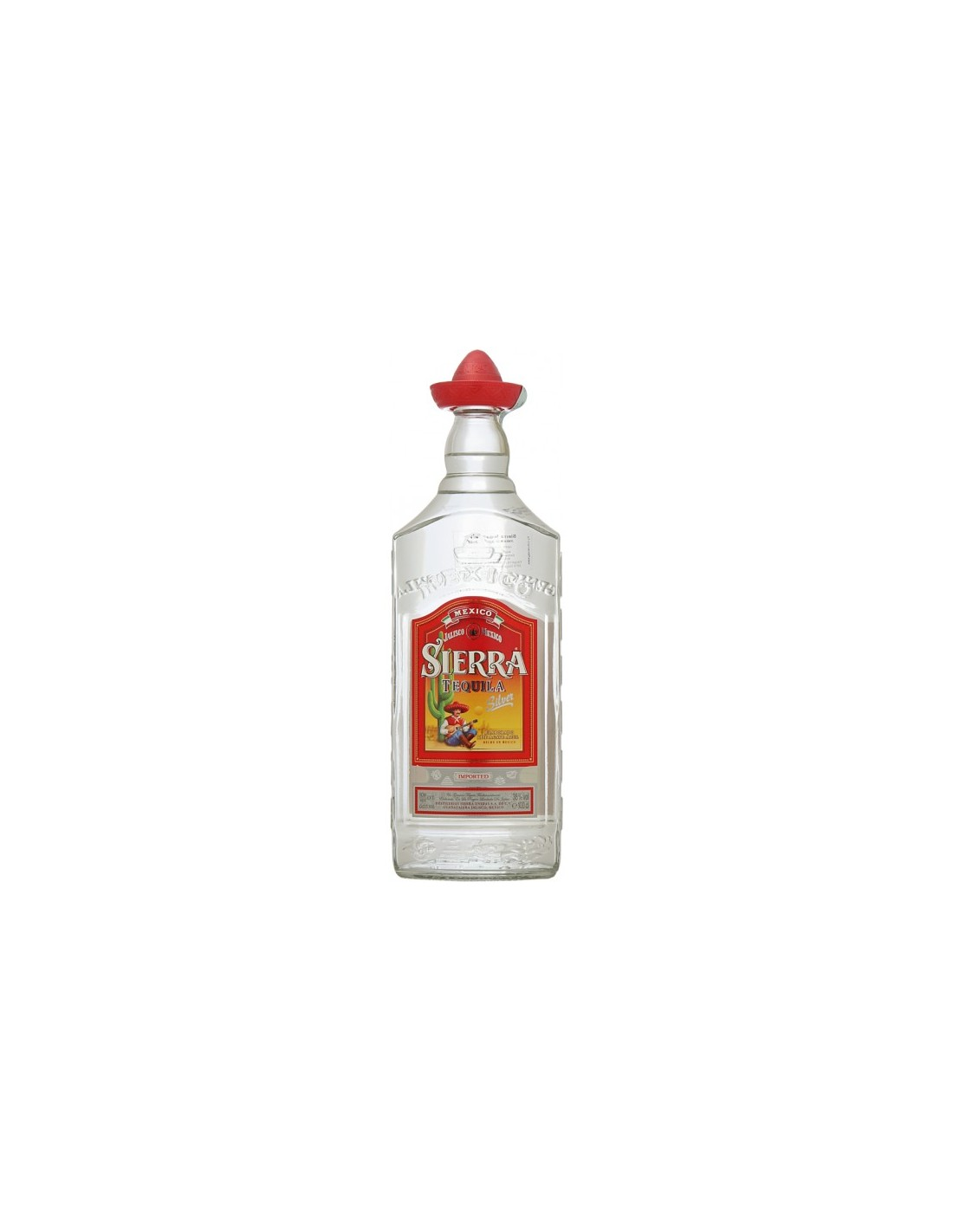 Tequila alba Sierra Silver 0.7L, 38% alc., Mexic