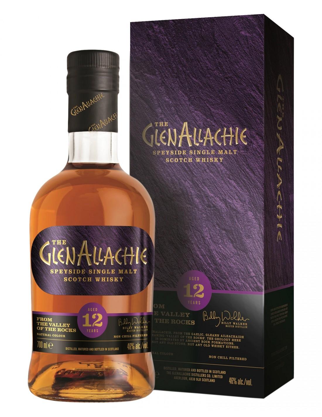 Whisky GlenAllachie Single Malt 0.7L, 46% alc.