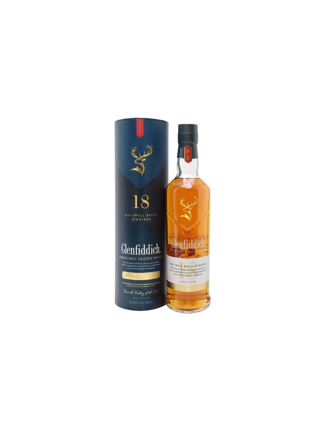 Whisky Glenfiddich Our Small Batch Eighteen 0.7L, 40% alc., Scotia