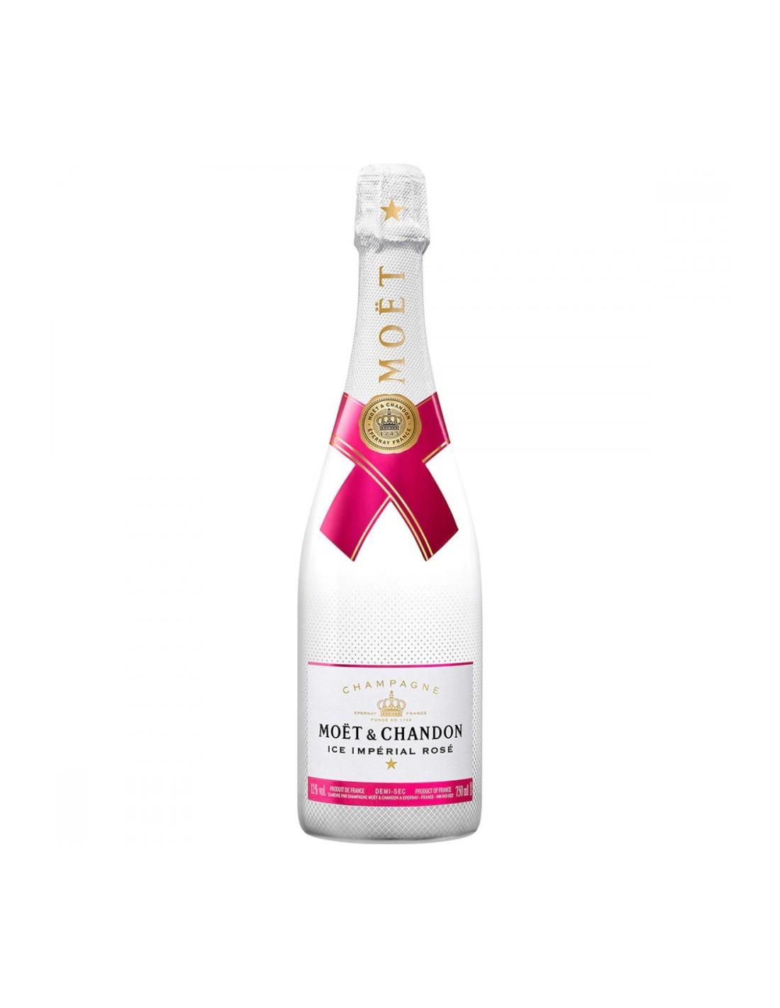 Sampanie Moët & Chandon Rosé Impérial Champagne, 12% alc., 0.75L, Franta