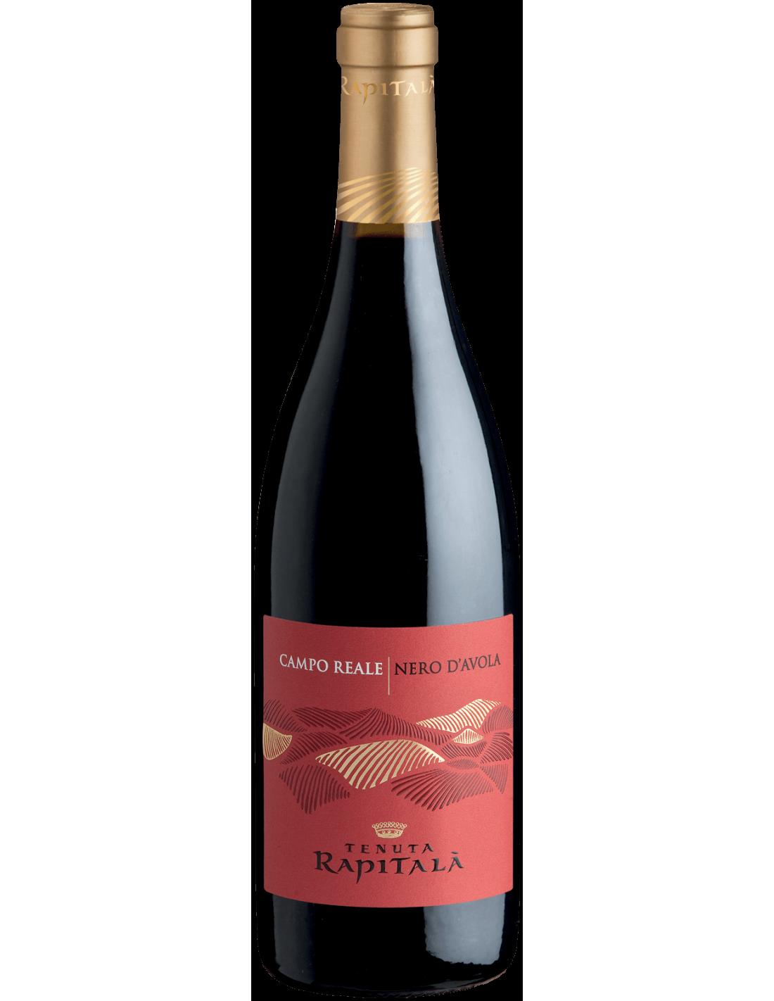 Vin rosu, Nero d'Avola, Tenuta Rapitalà Sicilia, 0.75L, 13.5% alc., Italia