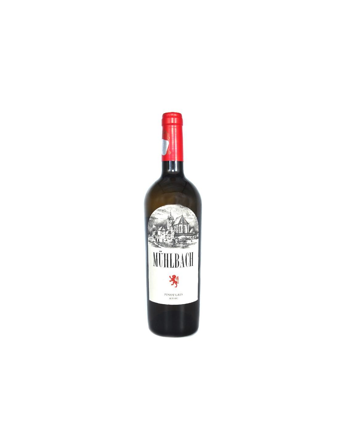 Vin alb sec, Pinot Gris, Muhlbach, Ciumbrud, 13.2% alc., 0.75L, Romania image0