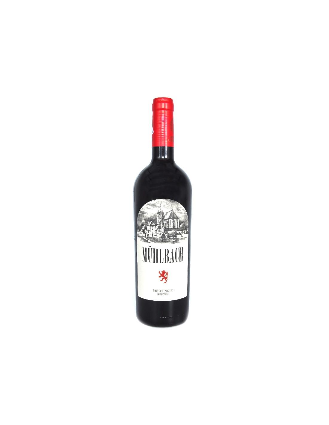 Vin rosu sec, Pinot Noir, Muhlbach, Ciumbrud, 12.6% alc., 0.75L, Romania