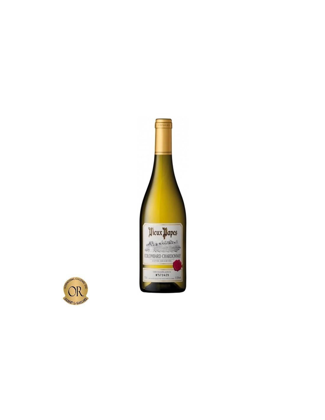 Vin alb, Chardonnay - Colombard, Vieux Papes, 0.75L, 12% alc., Franta