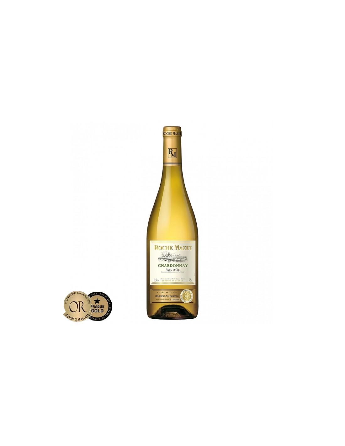 Vin alb, Chardonnay, Roche Mazet Pays d'Oc, 0.75L, Franta