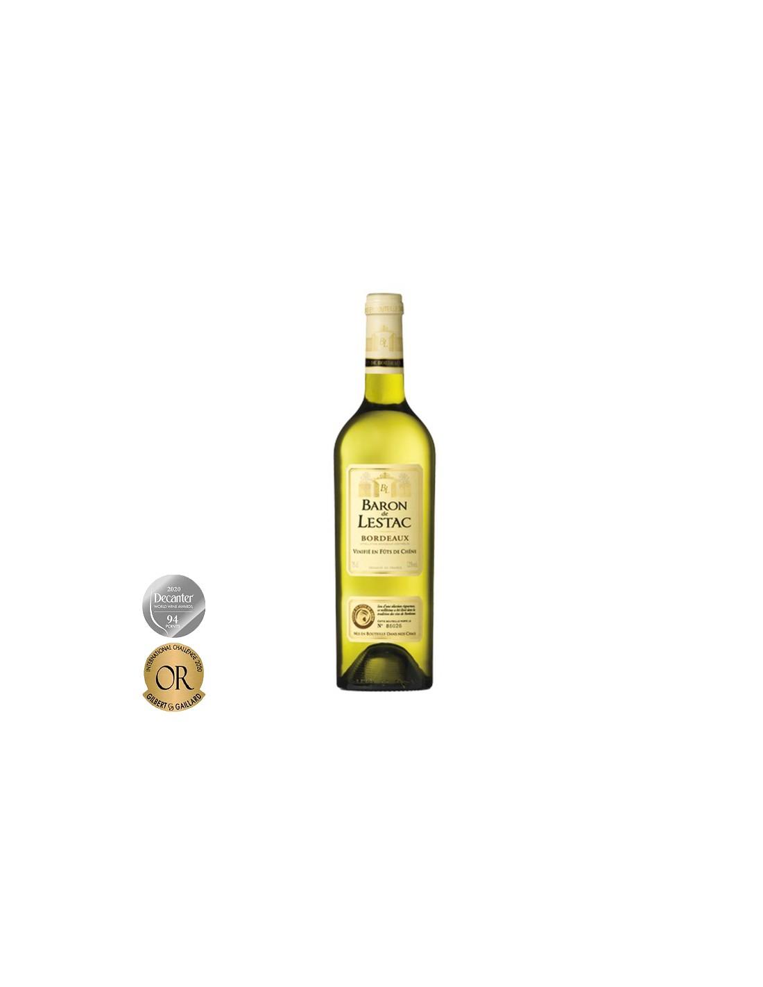 Vin alb, Cupaj, Baron de Lestac Bordeaux, 0.75L, 12% alc., Franta