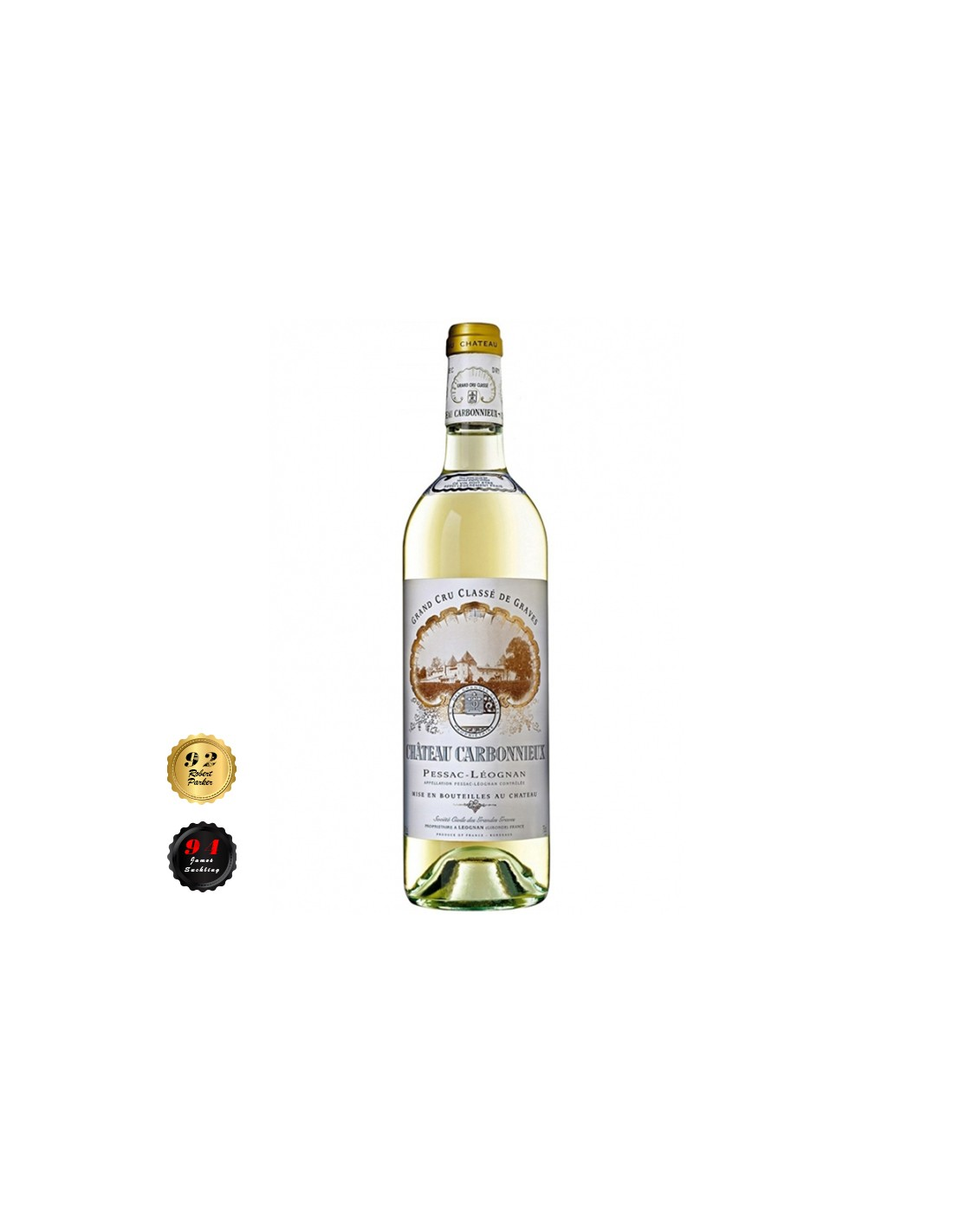 Vin alb sec, Sauvignon Blanc, Chateau Carbonnieux Pessac-Leognan, 0.75L, 13.5% alc., Franta