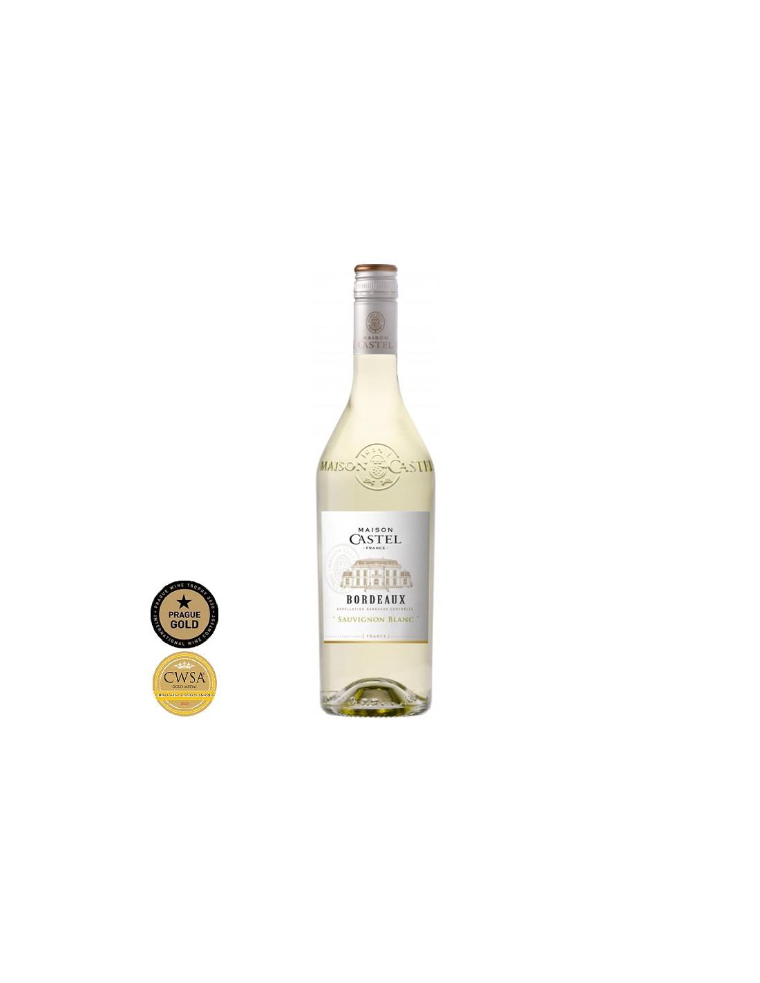Vin alb, Sauvignon Blanc, Maison Castel Bordeaux, 0.75L, 12% alc., Franta