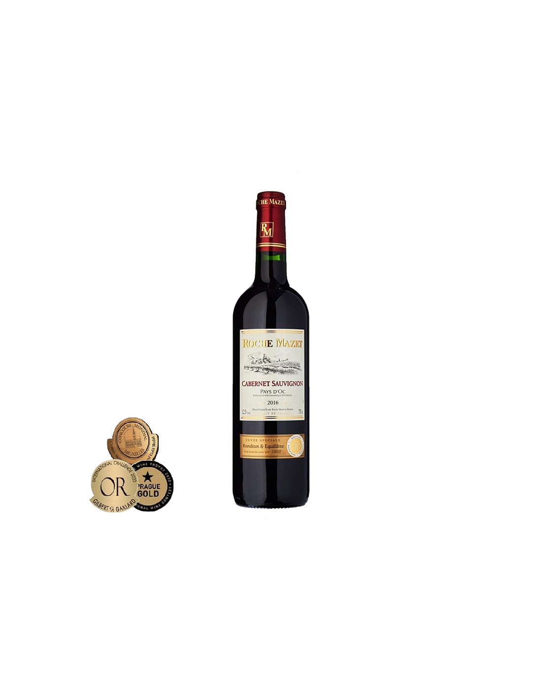 Vin rosu, Cabernet Sauvignon, Roche Mazet Pays d'Oc, 0.75L, 12.5% alc., Franta