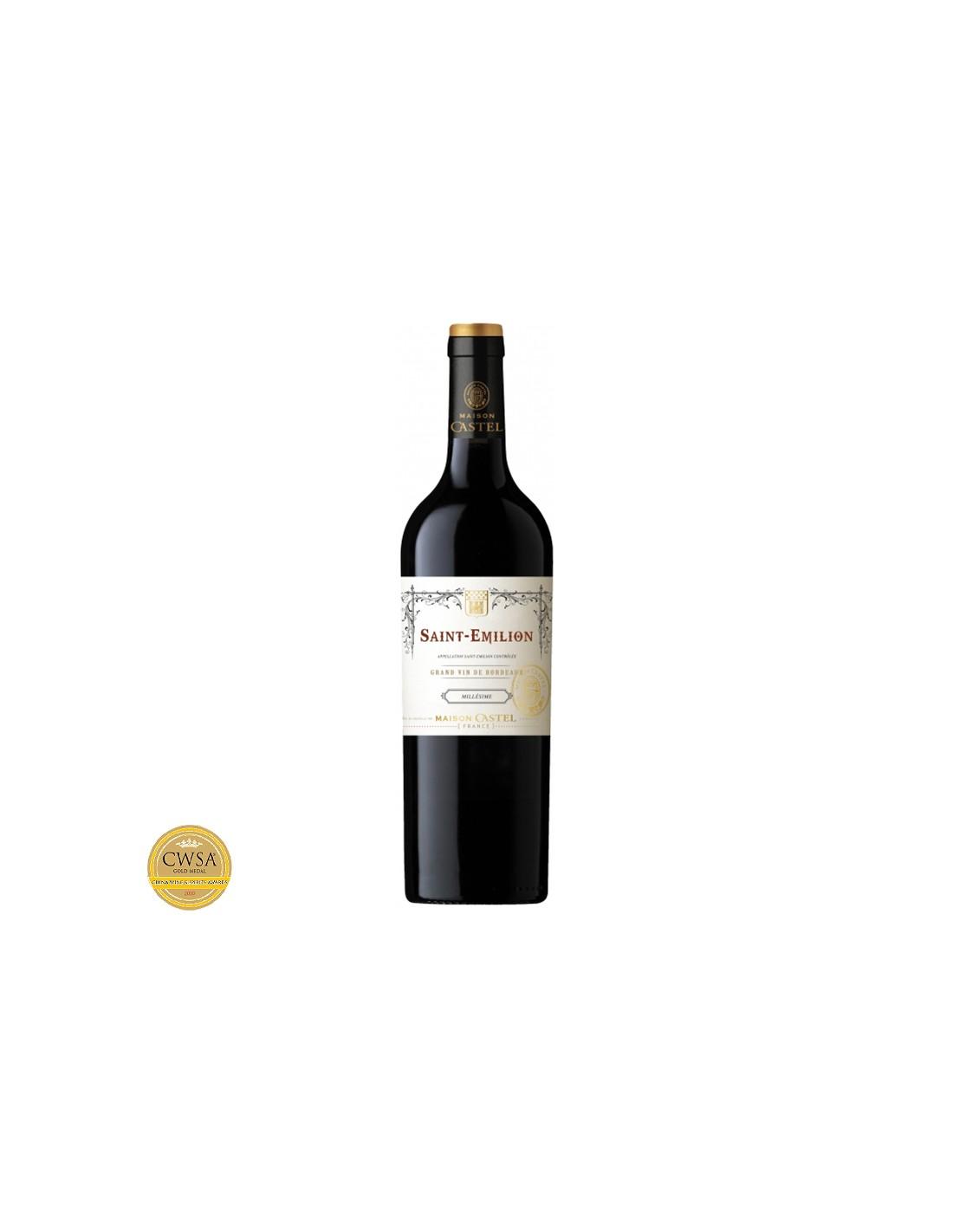 Vin rosu, Cupaj, Maison Castel Saint-Émilion, 0.75L, 12.9% alc., Franta