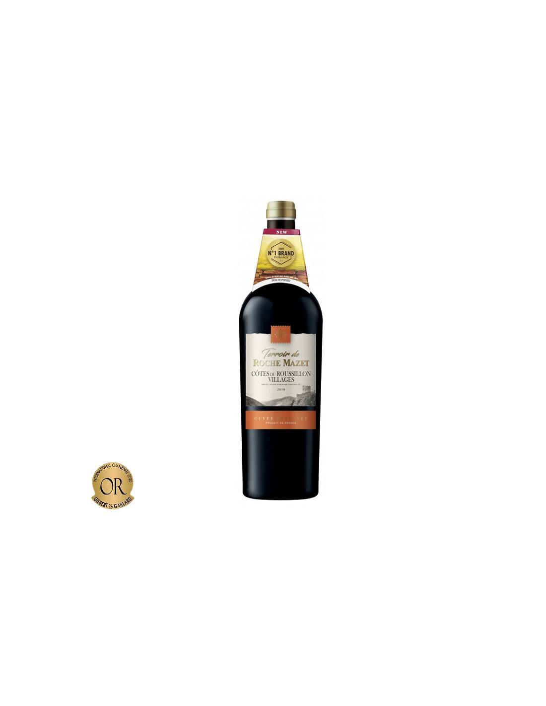 Vin rosu, Cupaj, Terroir de Roche Mazet, Cotes du Roussillon Cuvee Reserve, 0.75L, 14% alc., Franta