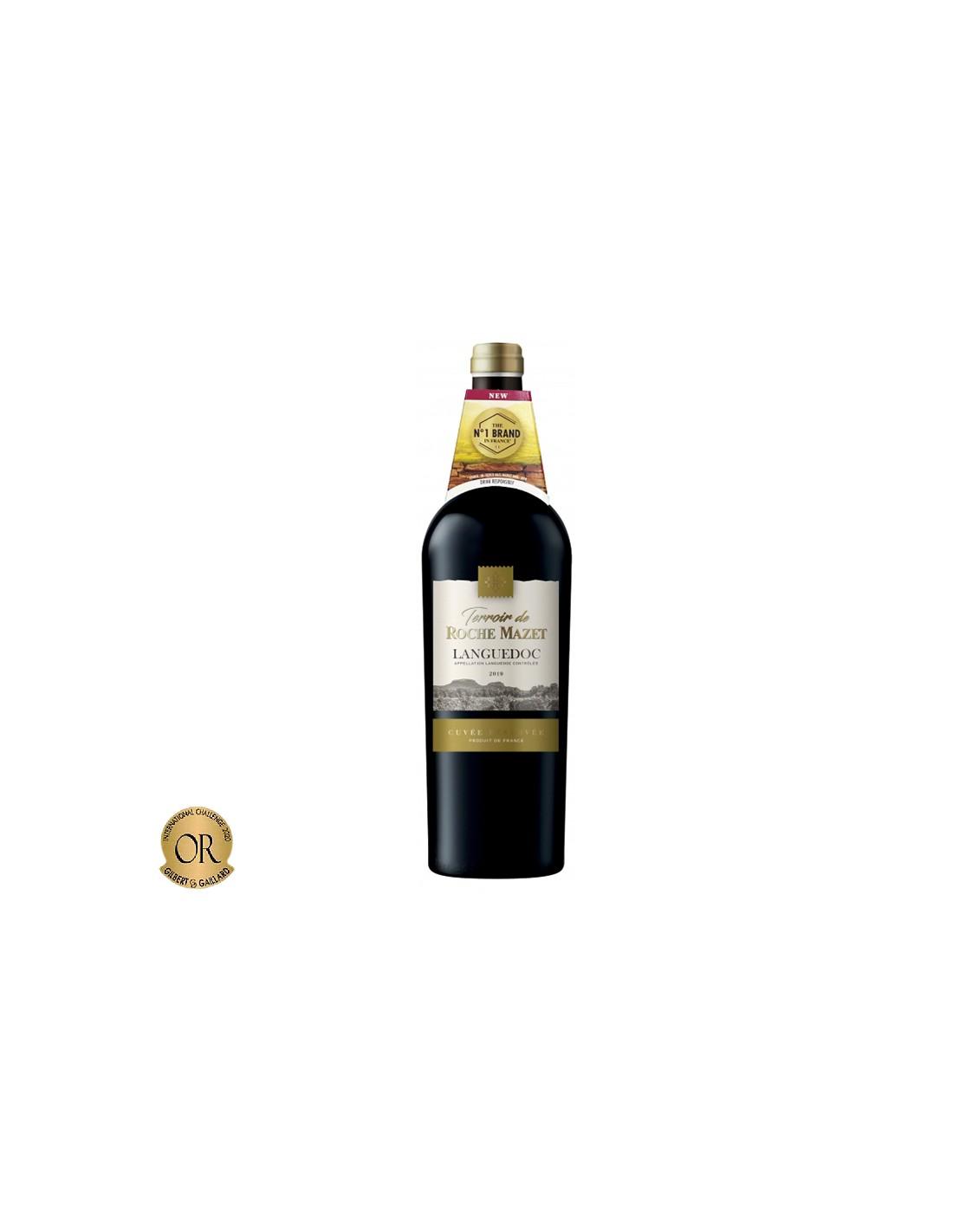 Vin rosu, Cupaj, Terroir de Roche Mazet, Languedoc Cuvee Reserve, 0.75L, 14.5% alc., Franta