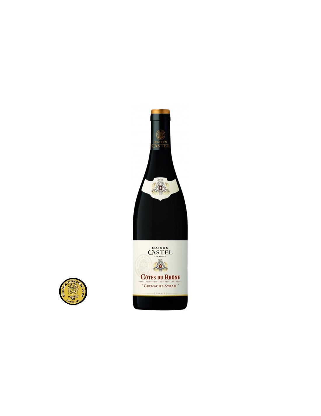 Vin rosu, Grenache-Syrah, Maison Castel Côtes-du-Rhône, 0.75L, Franta