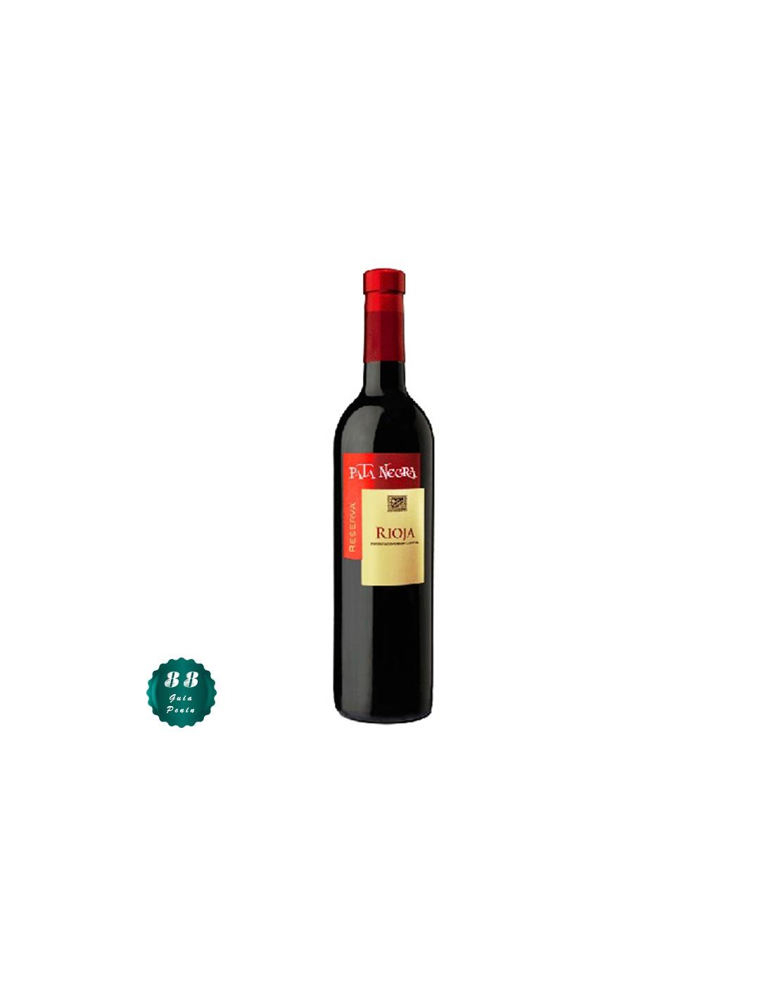 Vin rosu, Tempranillo, Pata Negra Reserva Rioja, 0.75L, 13.5% alc., Spania