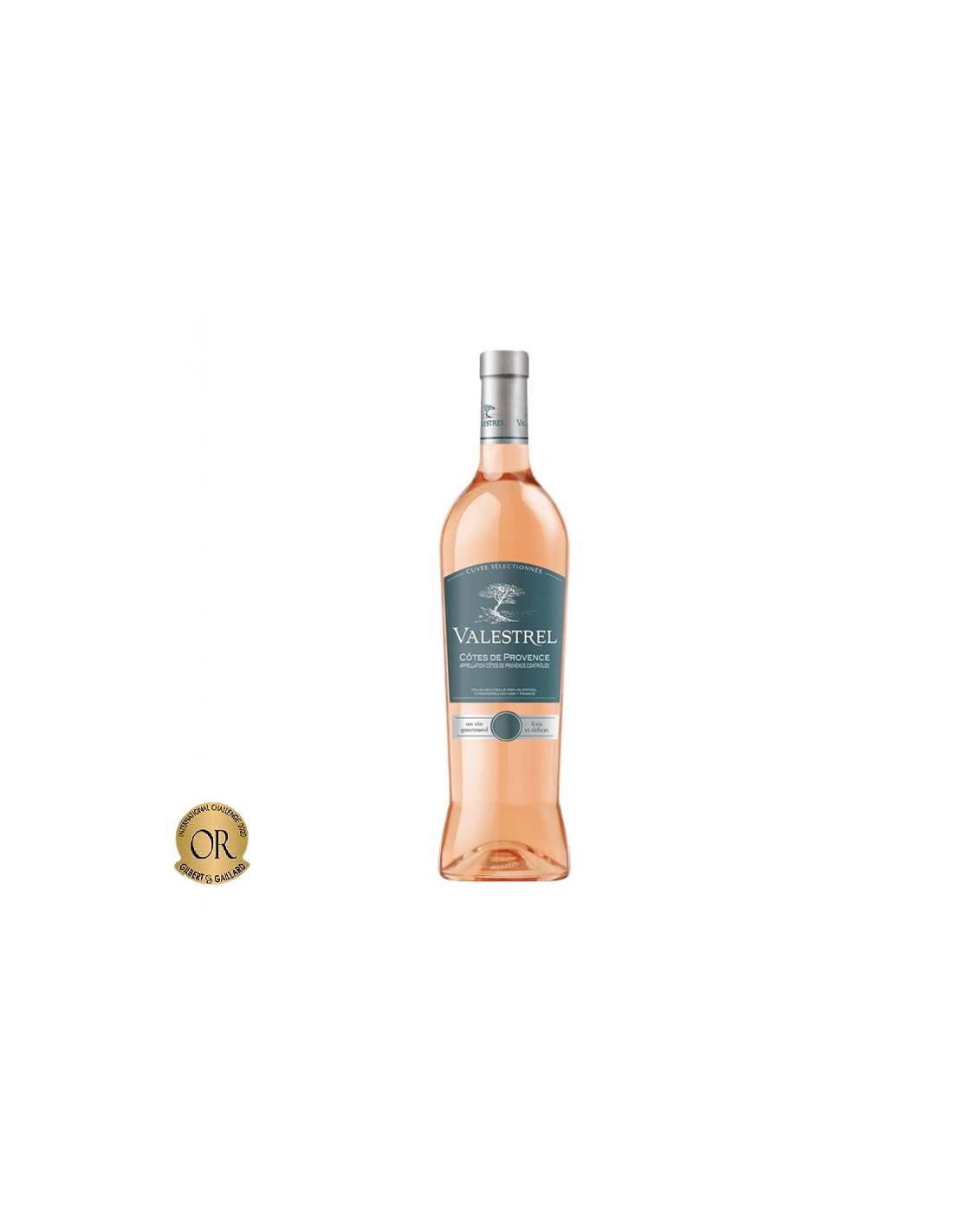 Vin roze, Jean Valestrel Côtes de Provence, 0.75L, Franta
