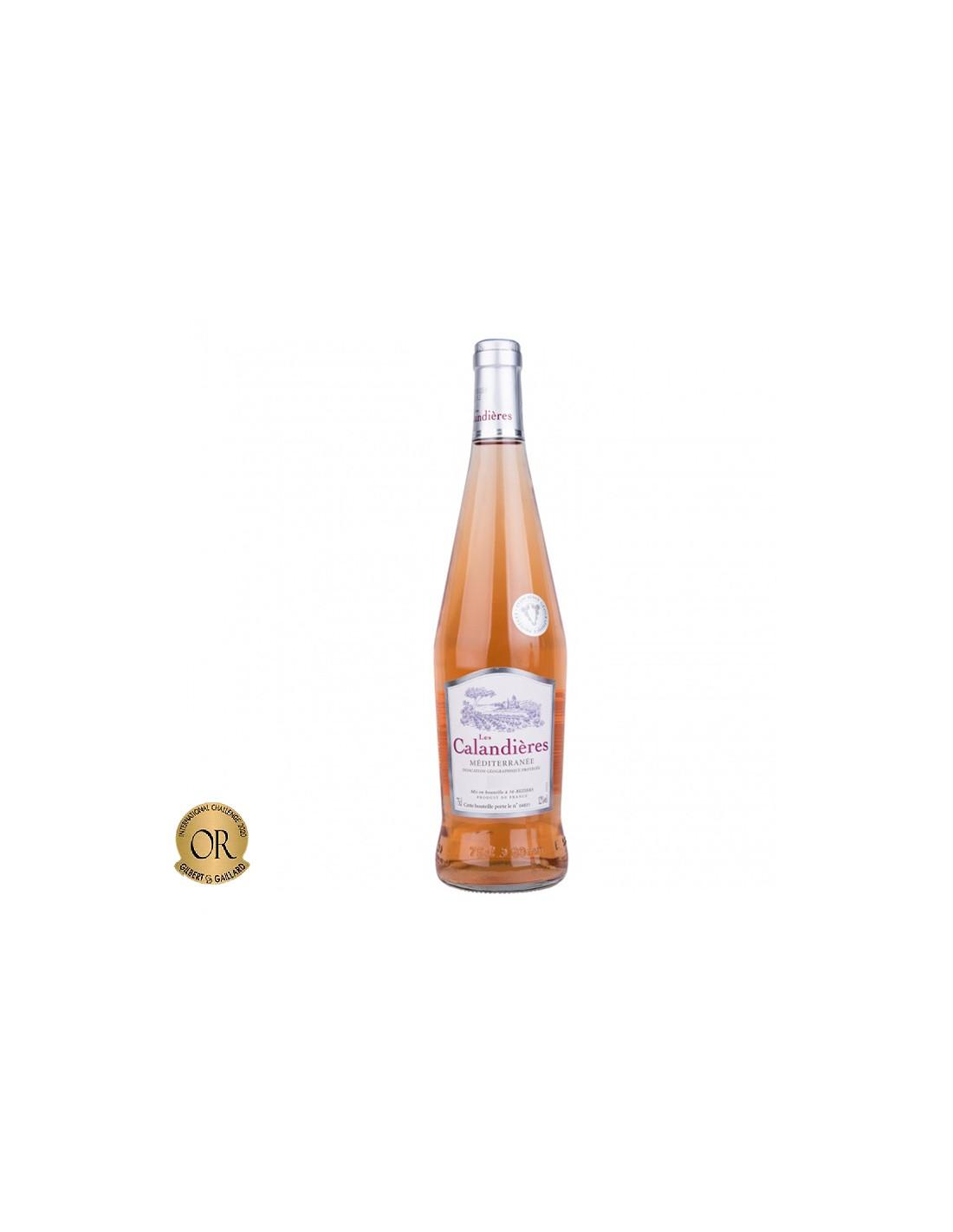 Vin roze, Cupaj, Les Calandieres Méditerranée, 0.75L, Franta