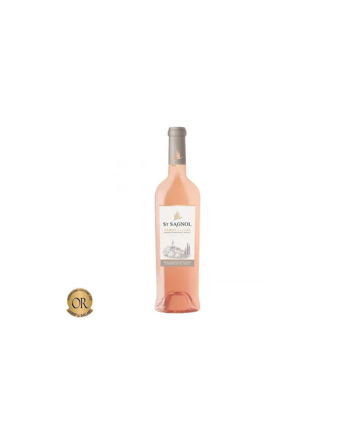 Vin roze, St Sagnol Méditerranée, 0.75L, Franta