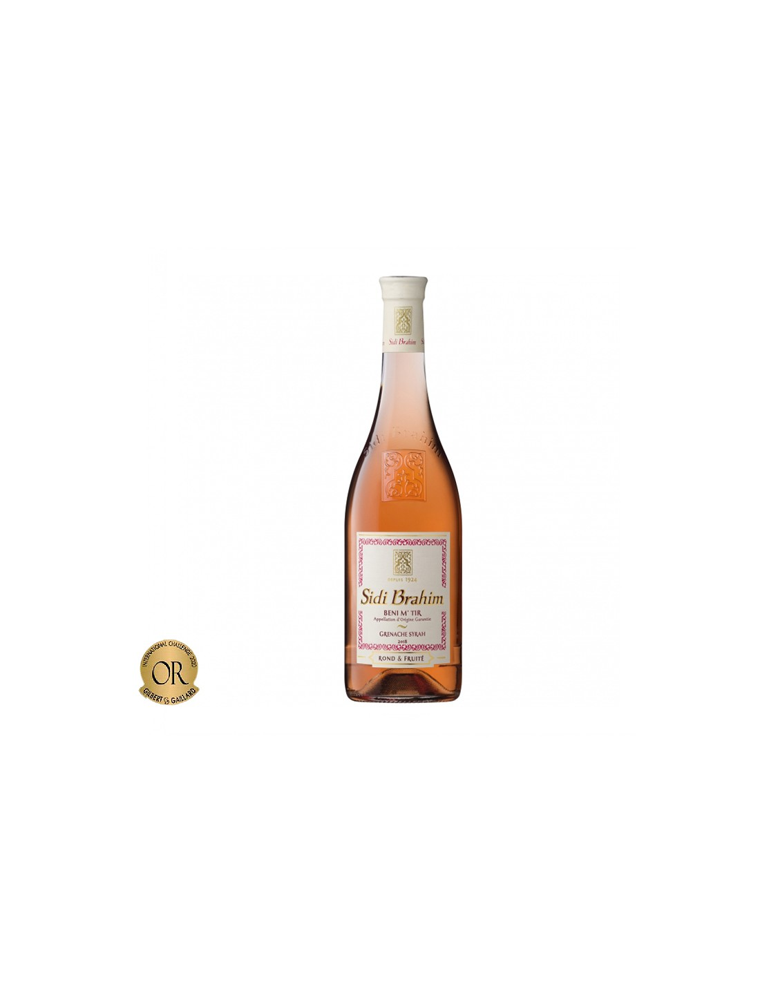 Vin roze sec, Syrah, Sidi Brahim Meknes-Fes, 0.75L, 12.5% alc., Maroc