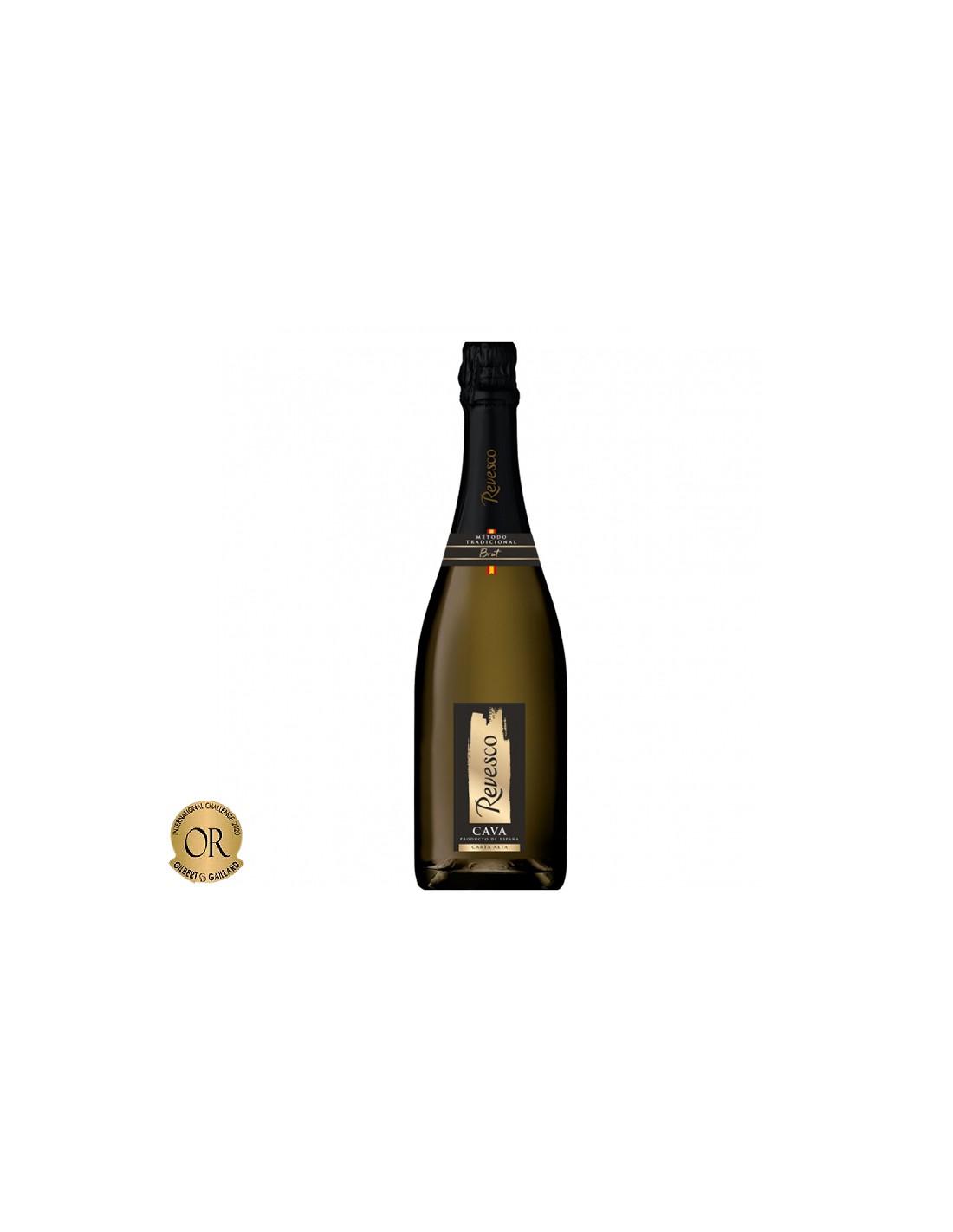 Vin spumant brut, Revesco Carta Alta Cava, 0.75L, 11.50% alc., Spania