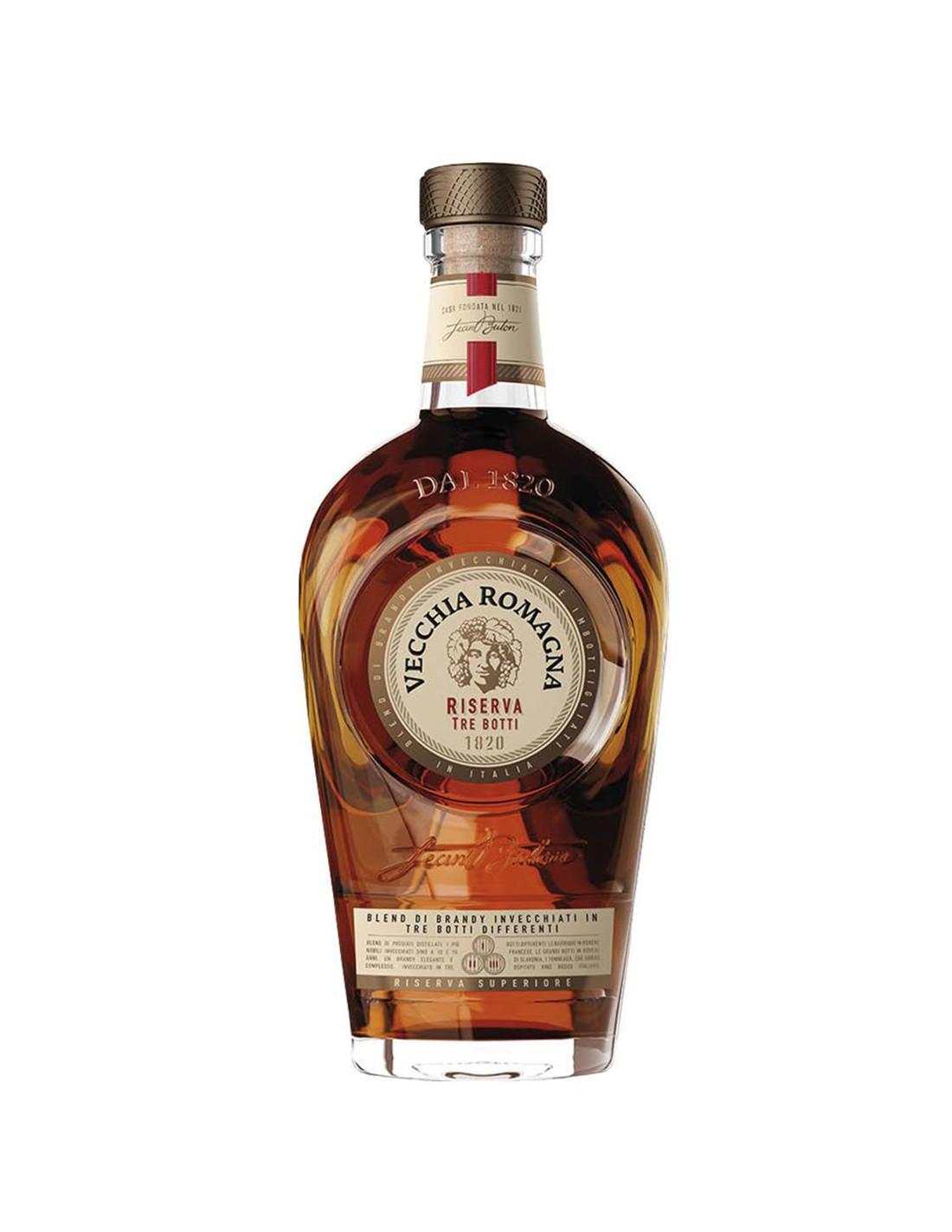 Brandy Vecchia Romagna Riserva Tre Botti, 0.7L, 40.8% alc., Italia image0