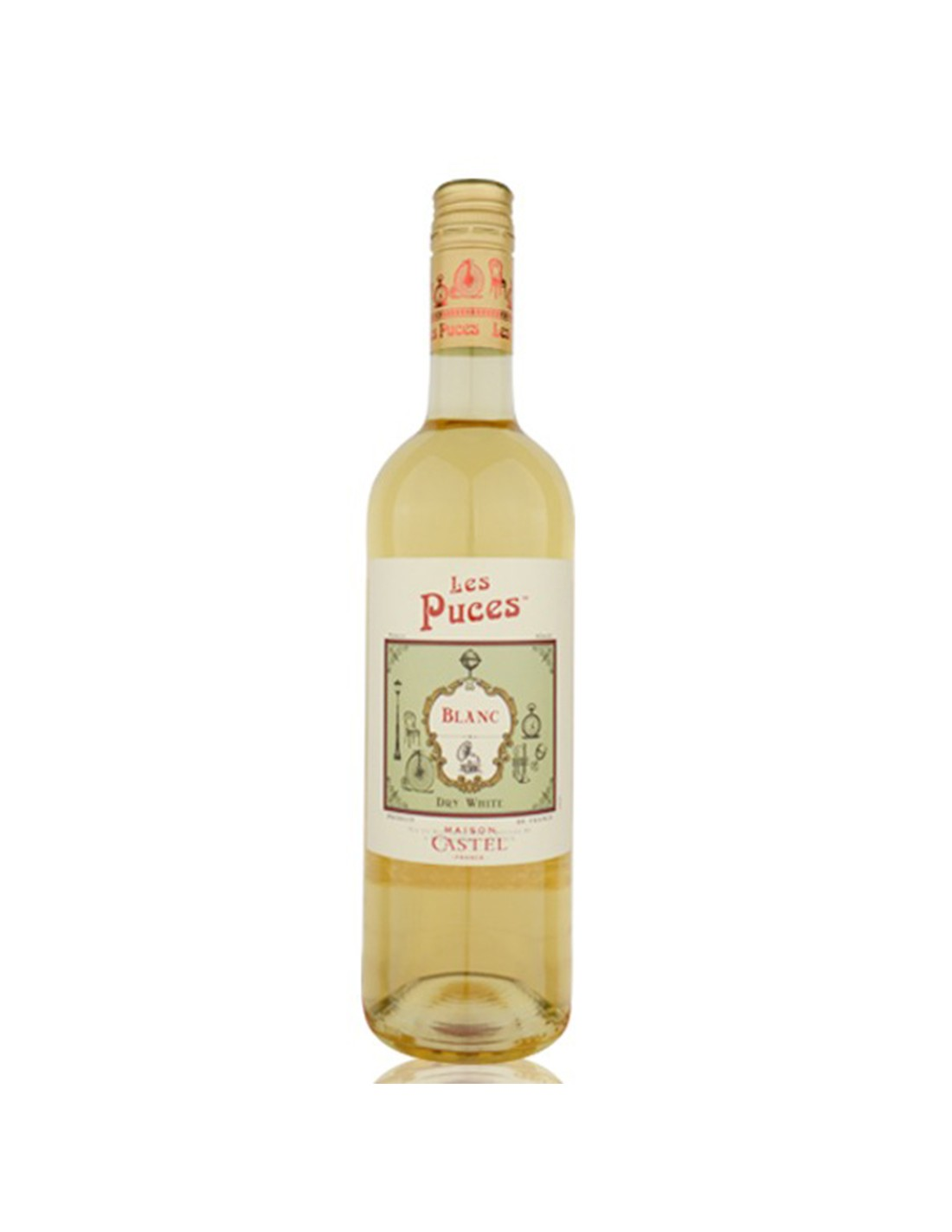 Vin alb sec, Les Puces Blanc, 0.75L, Franta