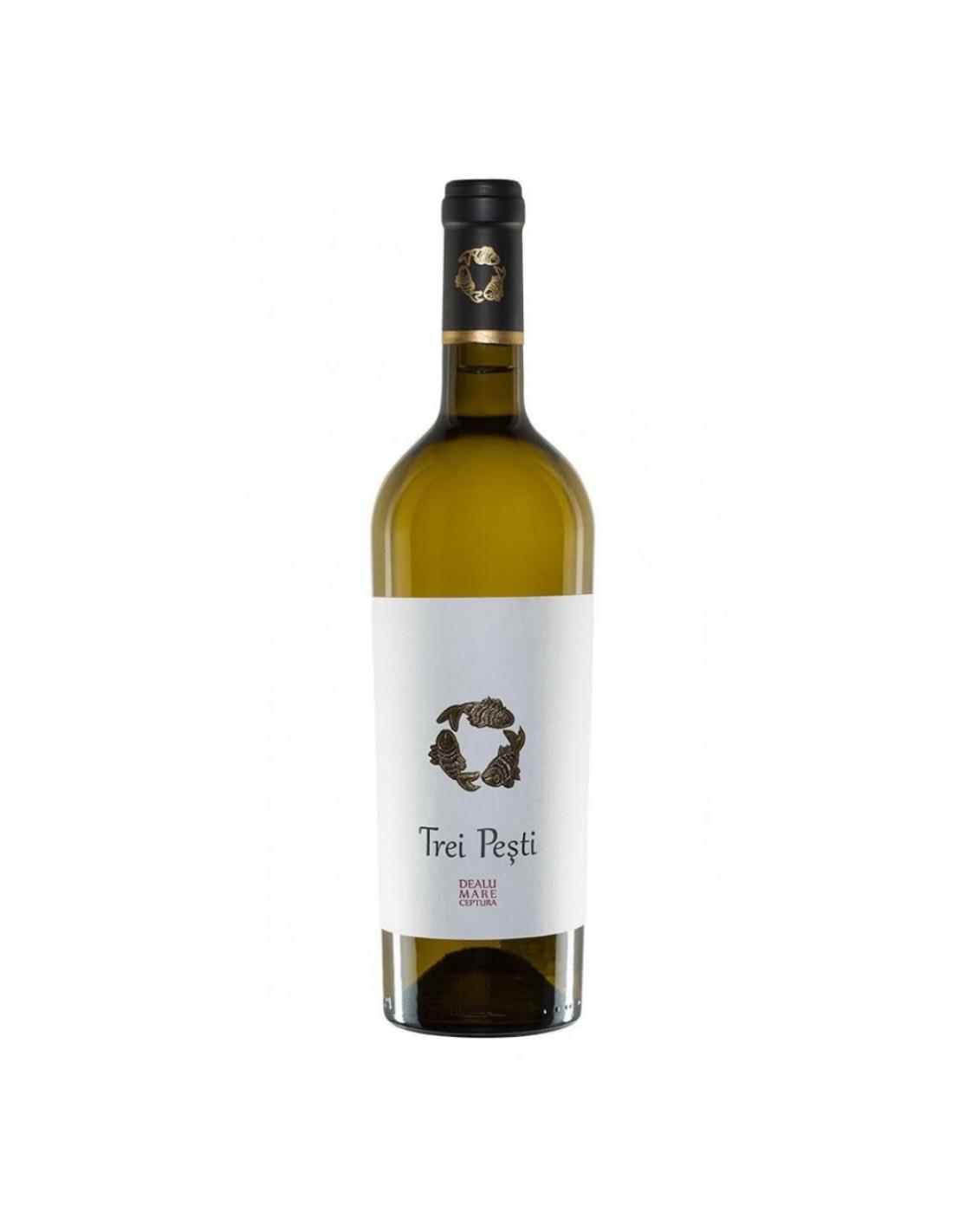 Vin alb sec, Cupaj, Domeniile Urlati Trei Pesti, 0.75L, 13.5% alc., Romania image0