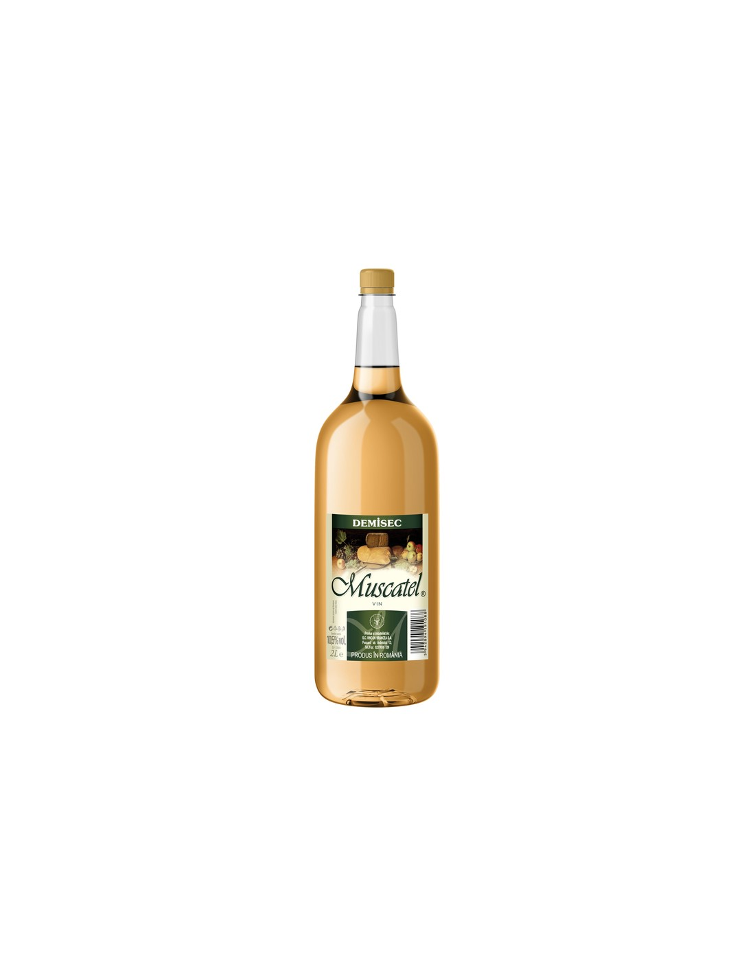 Vin alb demisec, Muscatel, 2L, 11% alc., Romania image0