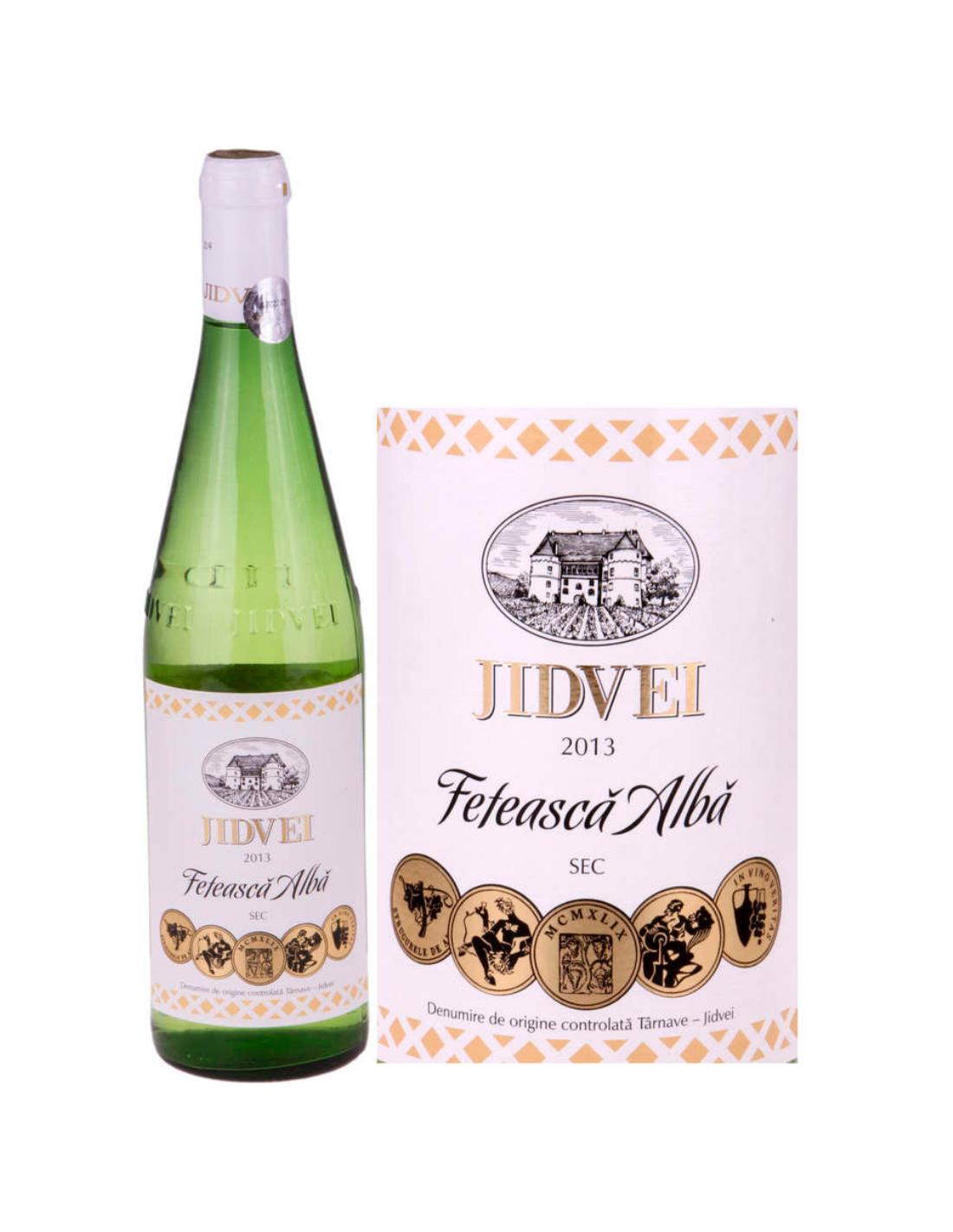 Vin alb sec, Feteasca Alba, Jidvei, 0.75L, 11% alc., Romania