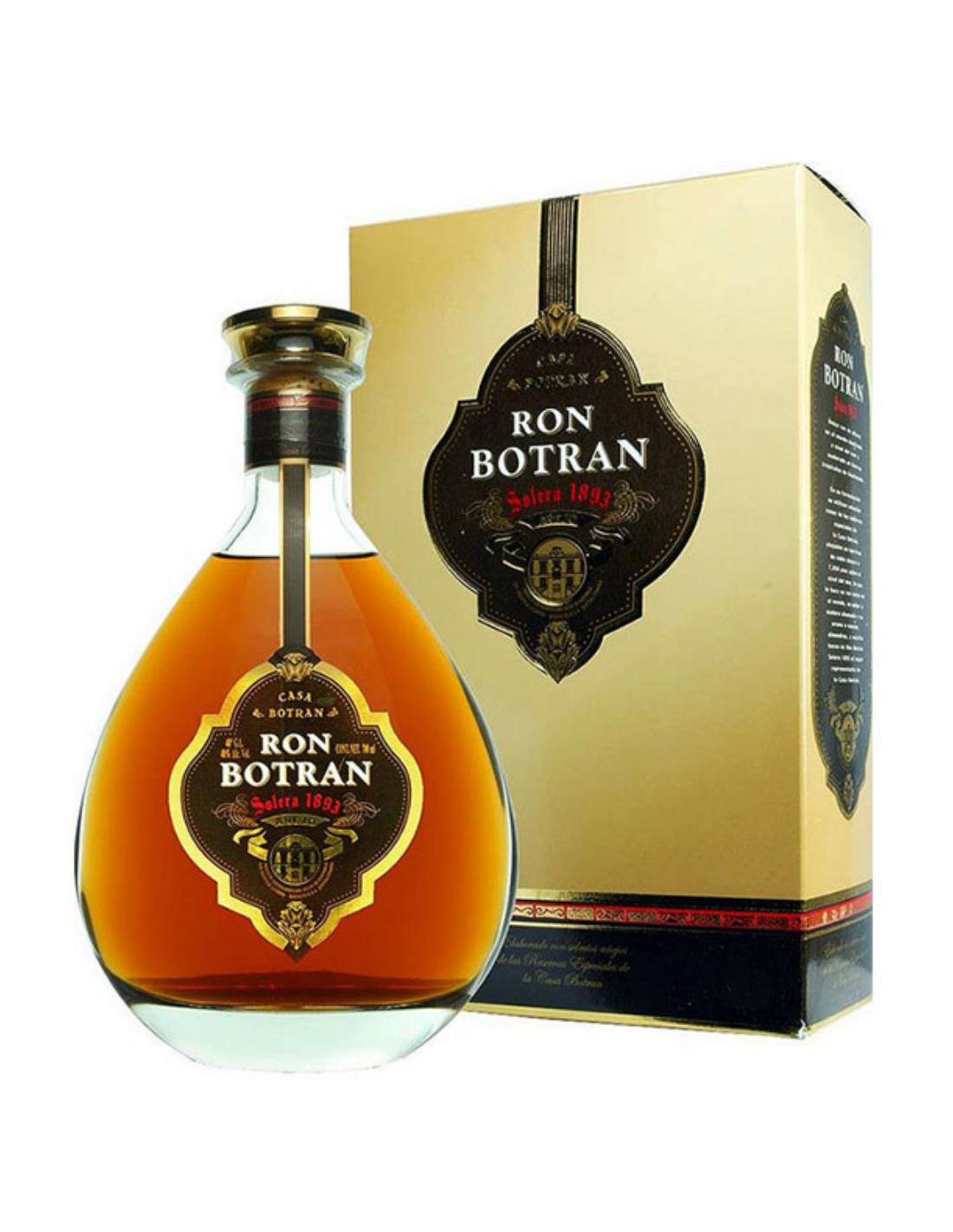 Rom Ron Botran Solera 1893 Decanter + cutie, 40% alc., 0.7L, Guatemala