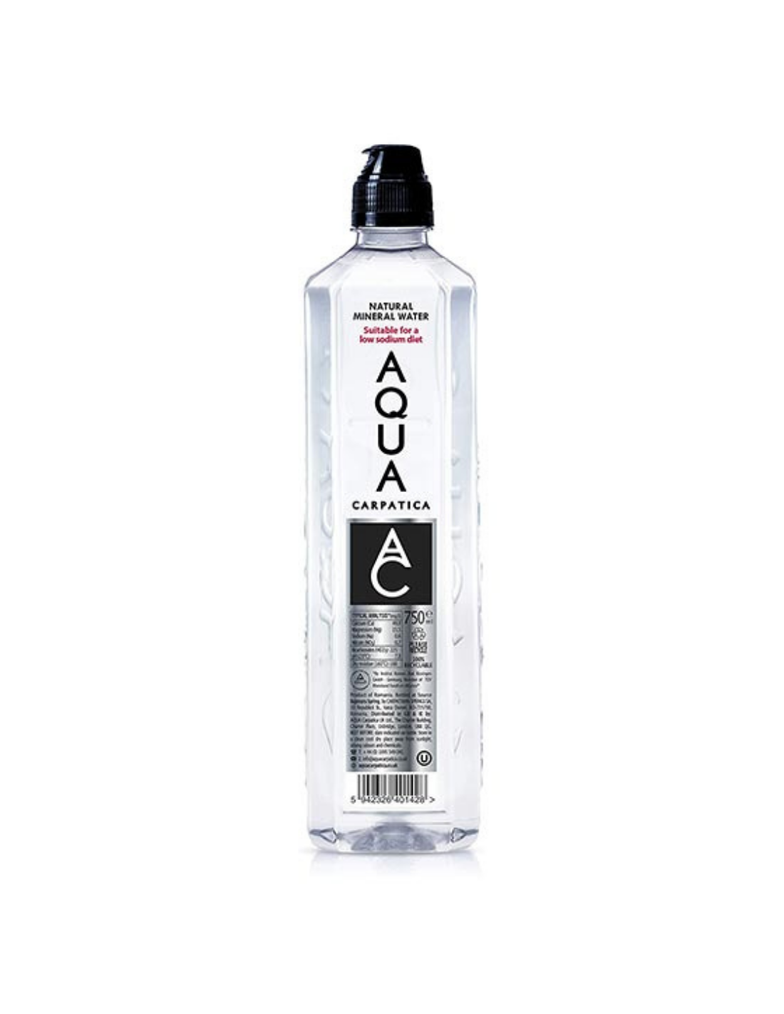 Apa plata Aqua Carpatica Sport, 0.75L, Romania