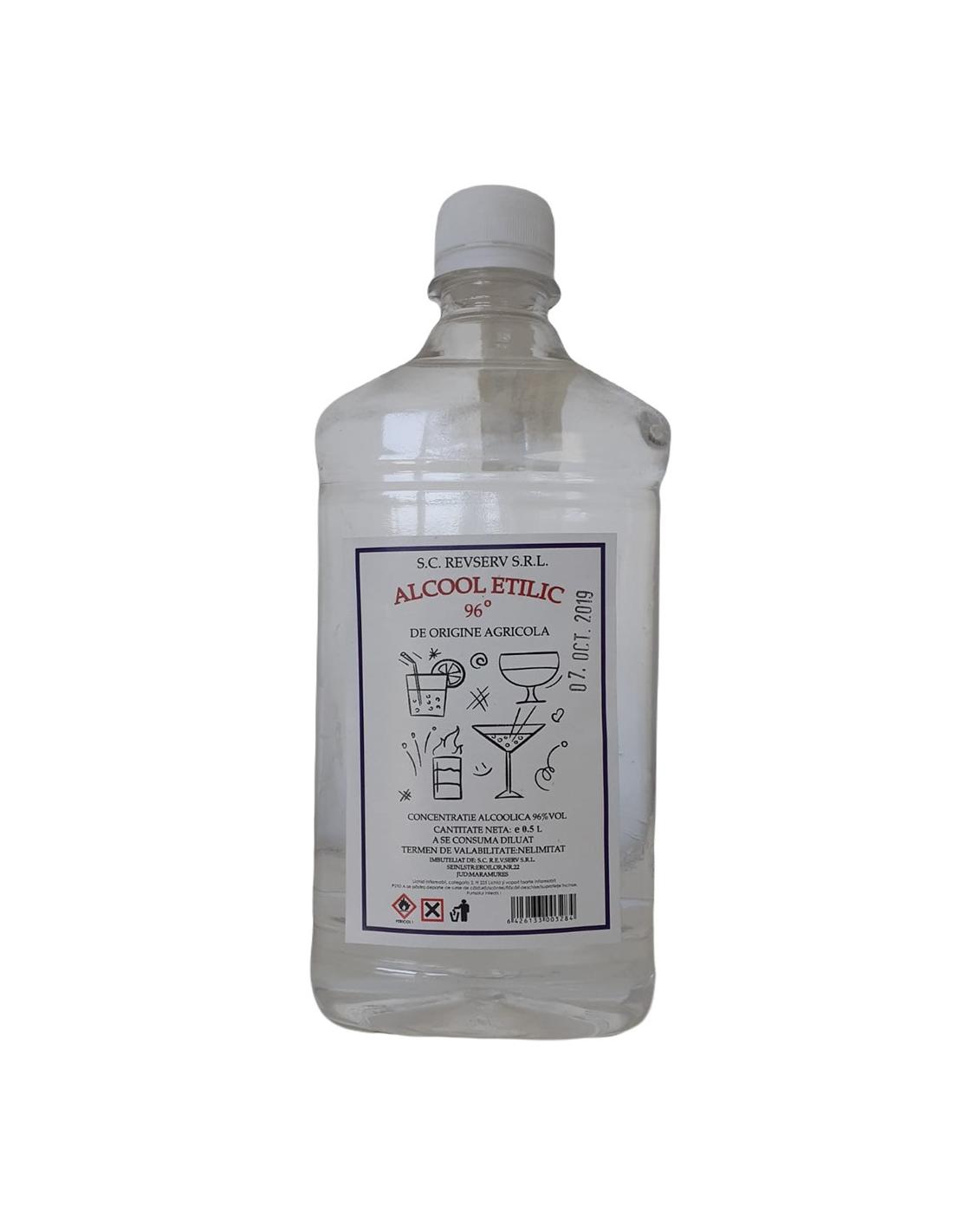 Alcool etilic de origine agricola, 96% alc., 0.5L